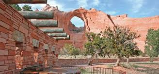 200 foot high sandstone hill - Picture of Window Rock